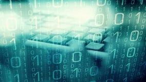 Hacker que espia, mundo futuro do cyber vídeos de arquivo