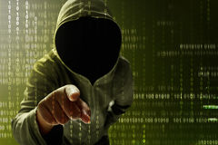 Hacker searching data Royalty Free Stock Image