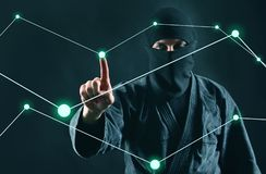 hacker Siekać komputerowego dane proces zdjęcia royalty free