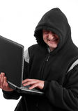 Hacker smiling Royalty Free Stock Photos