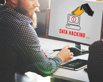 Hacker Spyware Cybercrime Phishing Fraud Concept. Computer Data Hacking Scam Concept Royalty Free Stock Photos