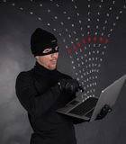 Hacker stealing data Royalty Free Stock Photo