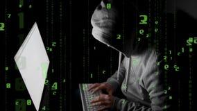 hacker  stealing password stock video