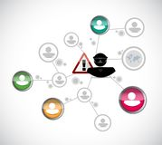 Hacker stealing person information network concept Stock Images