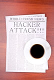 hacker szturmowa gazeta Fotografia Royalty Free