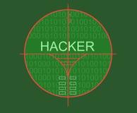 Hacker target Stock Image
