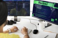 Hacker Technology Internet Content Web Concept Stock Images
