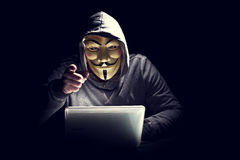 Hacker and terrorism fight royalty free stock image