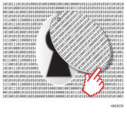 Hacker3. There is no protection from hackers Stock Photography