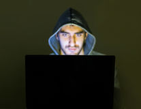 Free Hacker Trying To Scam People Online Stock Photography - 87627182