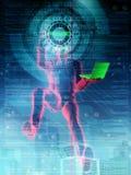 Hacker in Tätigkeit 02 Stockbilder