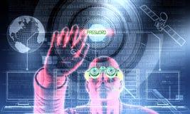 Hacker in Tätigkeit 03 Stockbild