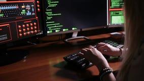 Hacker typing on keyboard computer. HD stock video