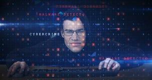 Hacker używa komputer zbiory wideo