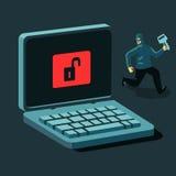Hacker und Schlüssel Lizenzfreies Stockbild