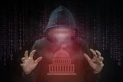 Hacker using ransomware for attack government system Royalty Free Stock Image