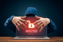Free Hacker Usurp Infected Computer Cybersecurity Concept Royalty Free Stock Photos - 176668958