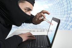 Hacker and virus concept stock photos