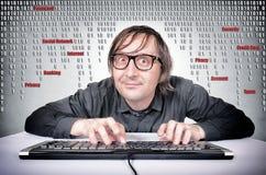 Hacker w akci Fotografia Stock