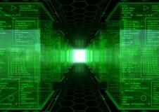 Hacker-Weltumdrehung stock abbildung