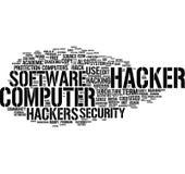 Hacker word cloud stock photos