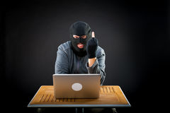Hacker at work Royalty Free Stock Images