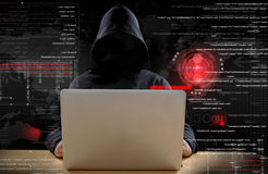 Hacker at work Stock Image