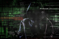 Hacker at work royalty free stock photos