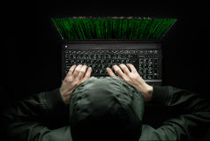 Hacker at work Stock Photos