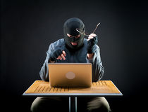 Hacker at work Royalty Free Stock Photography