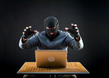 Hacker at work Royalty Free Stock Image