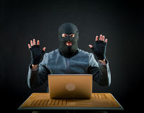 Hacker at work Stock Photography