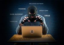 Hacker at work Stock Photo