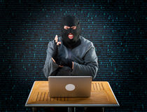Hacker at work Royalty Free Stock Photo