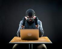Hacker at work Stock Photos