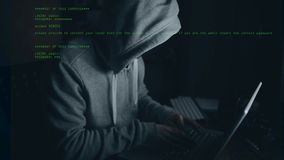 Hacker working on computer stock video footage