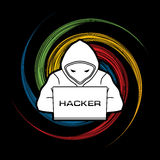 Hacker working on laptop Royalty Free Stock Photography