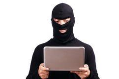 Hacker z komputerem Zdjęcie Royalty Free