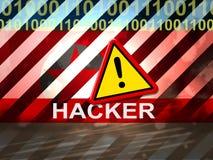 Hacker zeigt Nordkorea-Cyber, der Illustration 3d ausspioniert vektor abbildung