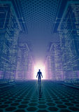 Hackera świat ilustracja wektor