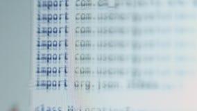 Hackera api tekst na ekranie komputerowym Cyfrowanie hackera pojęcie nowoczesna technika stary kod księgi jakiś program Strony in zdjęcie wideo