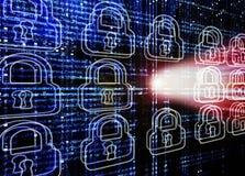 Hackera atak Obraz Royalty Free