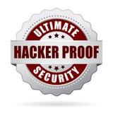 Hackera dowodu ochrony ikona Zdjęcia Royalty Free