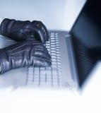 Hackera interneta ochrona Fotografia Stock