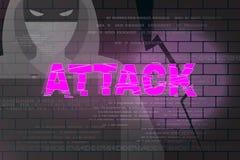 Hackera szturmowy abstrakcjonistyczny tło 2 Obraz Stock