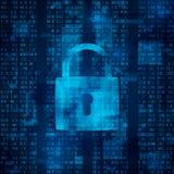 Hackera szturmowy lokout dane ochrona od siekać Antivirus oprogramowanie Cyber ochrona wektor royalty ilustracja