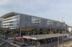 Hackerbruecke station platform with the Munich bus station, 2015 Royalty Free Stock Photo