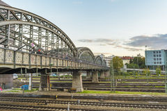 Hackerbrucke bridge, Munich, Germany Stock Images