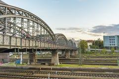 Hackerbruecker most, Monachium, Niemcy Obrazy Stock