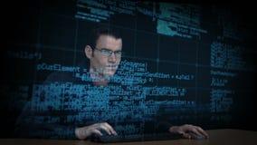 Hackerdownloaddaten stock video